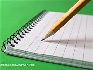 Crayon et carnet de notes