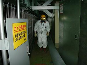 Employé dans la centrale nucléaire de Fukushima