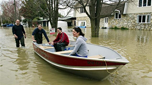Inondations sur les rives du Richelieu