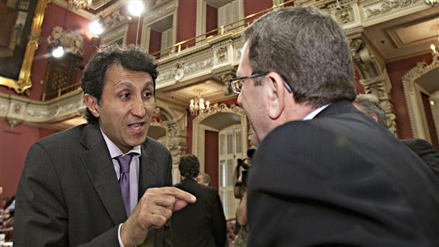 Amir Khadir et Régis Labeaume