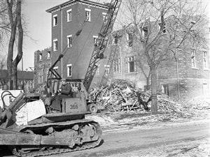 Terrains de Radio-Canada et démolition des dernières maisons ( 11  Décembre 1963 )