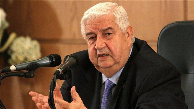 Le ministre syrien des Affaires étrangères, Walid Mouallem