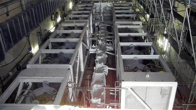Une unité de traitement des eaux radioactives à la centrale de Fukushima-Daiichi, au Japon, le 11 juin 2011