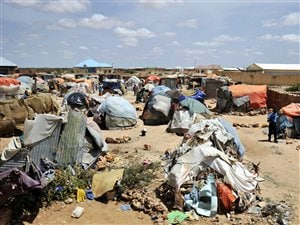 Un camp de personnes déplacées à Galkayo, en Somalie