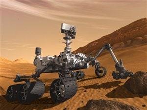 Impression artistique du robot Curiosity