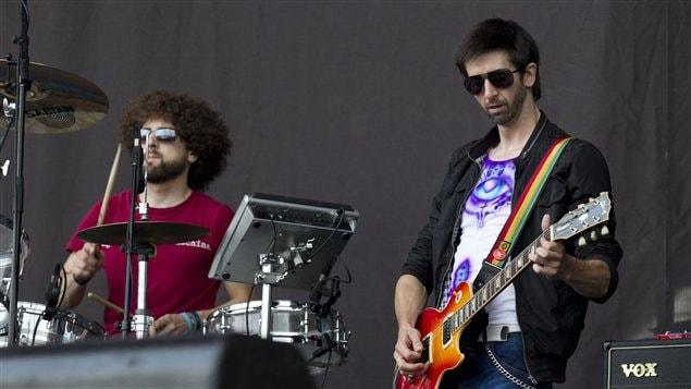Le groupe montréalais Bran Van 3000 au festival Osheaga de Montréal, le 29 juillet 2011
