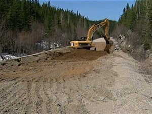 Route en construction au Québec