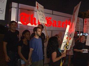 Des employés de The Gazette en lock-out