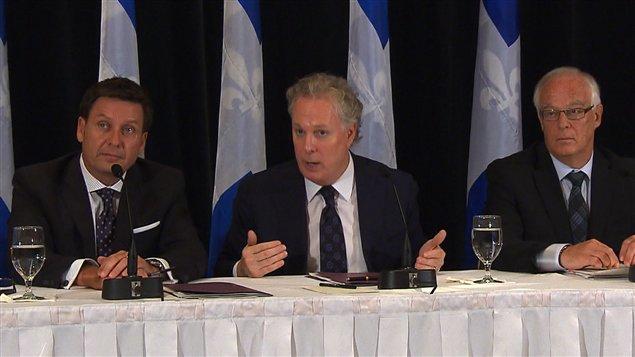 Pierre Moreau, Jean Charest et Robert Dutil