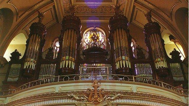 L'orgue de l'église Saint-Jean-Baptiste, à Montréal.