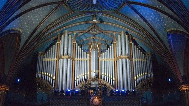 L'orgue de la basilique Notre-Dame, à Montréal.