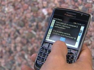 Problème avec un cellulaire BlackBerry