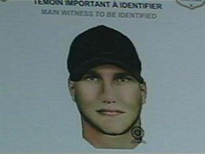 Portrait robot du suspect dans l'affaire du meurtre de Valérie Leblanc