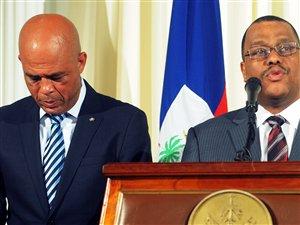 Le président haïtien Michel Martelly et le premier ministre Garry Conille