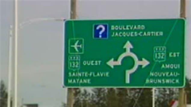 Signalisation routière à Mont-Joli