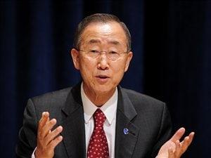 Le secrétaire général des Nations Unies, Ban ki-Moon