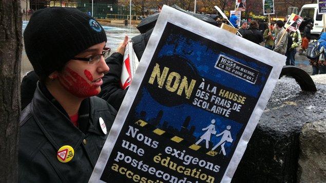 Manifestation d'étudiants à Montréal