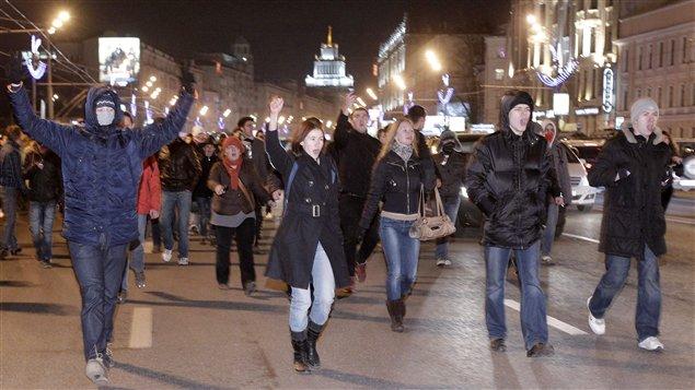 Des opposants au président ont manifesté mardi soir à Moscou.