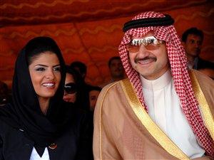 Le prince Al-Walid bin Talal et sa femme, la princesse Amira al-Taweel