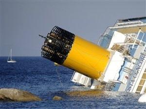Le paquebot s'est échoué près de l'île de Gigloi en Italie