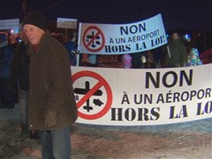 Manifestation des citoyens de Neuville