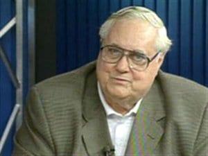 Laurent Desjardins, surnommé Larry, lors d'une entrevue à Radio-Canada, en 1998, est mort mardi, à l'âge de 88 ans.