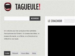 La page d'accueil du webzine TaGueule.ca