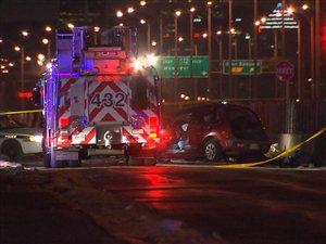 Une poursuite policière se termine par un accident à Saint-Hubert.