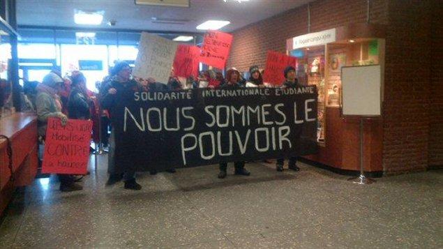 Manifestation des étudiants de l'UQAC