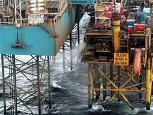 La plate-forme de Total, confronté à une importante fuite de gaz en mer du Nord.
