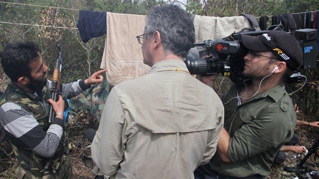 Un membre de l'armée de libération syrienne rencontré par Luc Chartrand dans le nord de la Syrie