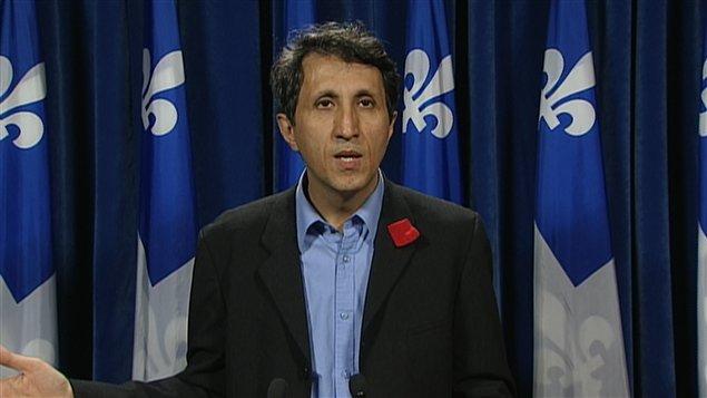 Amir Khadir, co-porte-parole de Québec solidaire