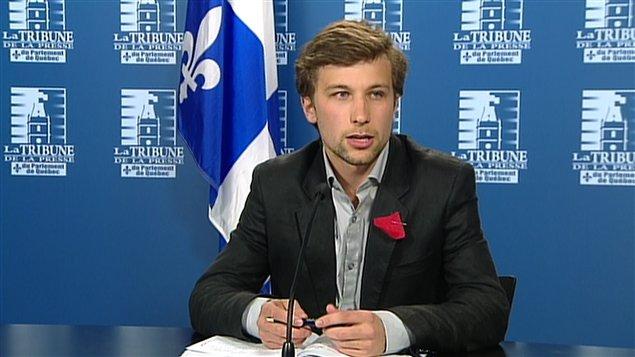 Gabriel Nadeau-Dubois, porte-parole de la CLASSE