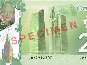 Le nouveau billet de banque de 20 $ en polymère