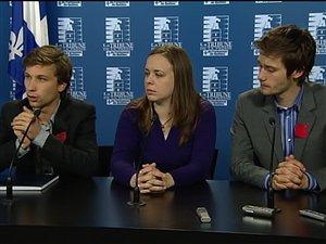 Les trois leaders étudiants