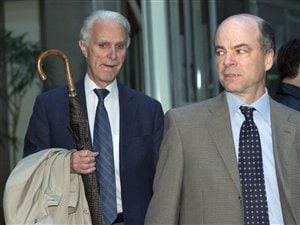 L'ex-juge Jacques Delisle au palais de justice de Québec