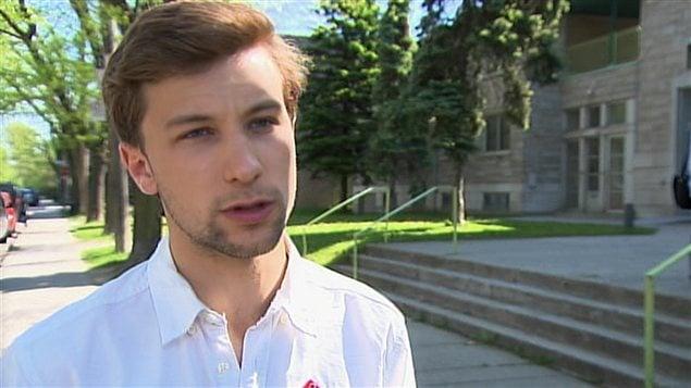 Gabriel Nadeau-Dubois, porte-parole de la Coalition large de l'Association pour une solidarité syndicale étudiante