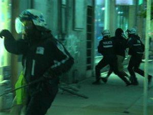 113 personnes ont été arrêtées lors de la manifestation nocturne tenue mardi soir à Montréal.
