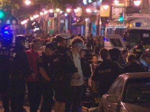 176 étudiants ont été arrêtés à Québec mercredi soir.