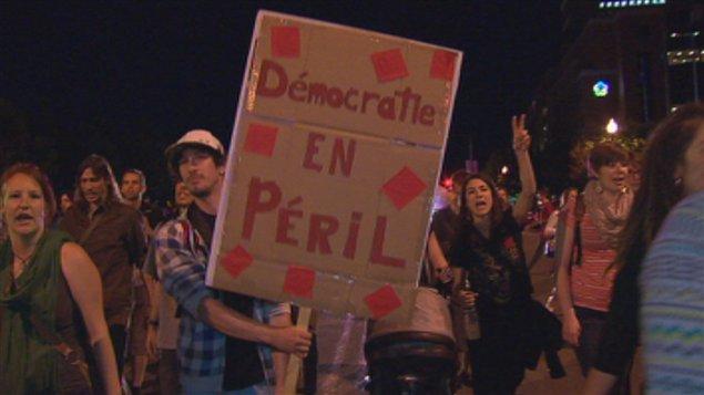 Environ 400 personnes ont participé à la manifestation.