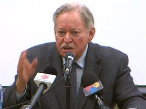 L'ex-premier ministre du Québec, Jacques Parizeau, à Québec