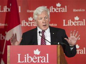 Le chef par intérim du Parti libéral du Canada, Bob Rae