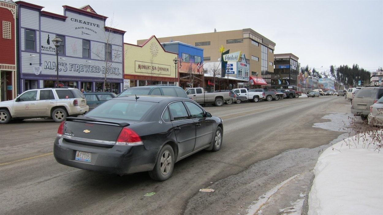 Centre-ville de Whitehorse au Yukon