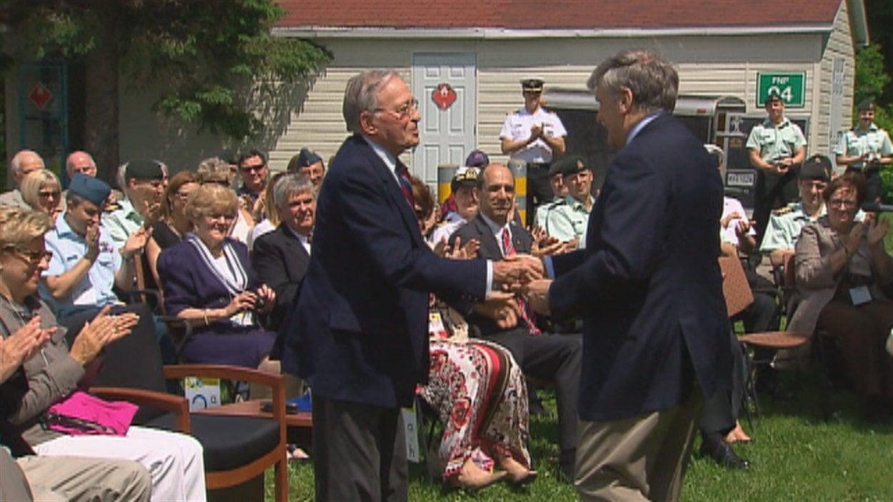 L'hommage rendu à Gilles Lamontagne, cet ancien maire de Québec et ancien ministre canadien de la Défense, entre autres, a eu lieu à la base militaire de Valcartier samedi.