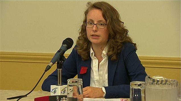 La présidente de la FECQ, Éliane Laberge