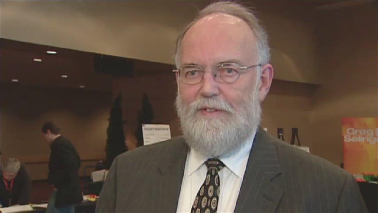 John Nilson, leader par intérim du NPD saskatchewanais au congrès annuel à Saskatoon