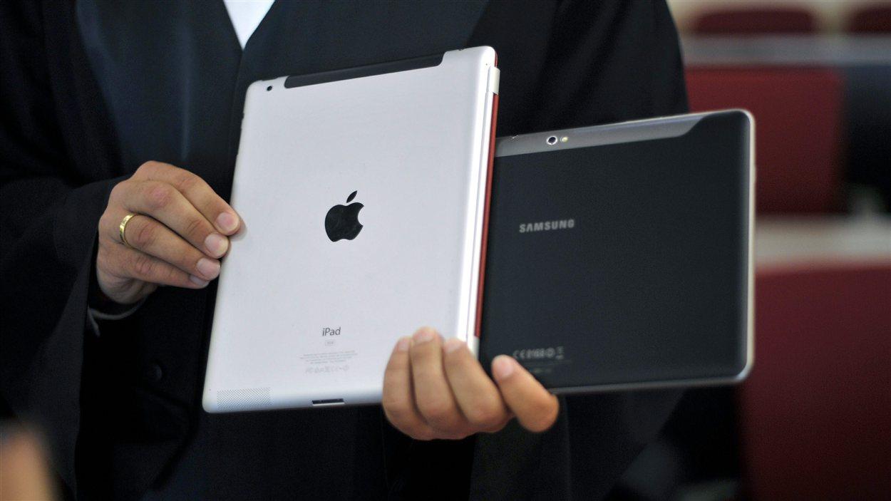 Tablettes d'Apple et Samsung