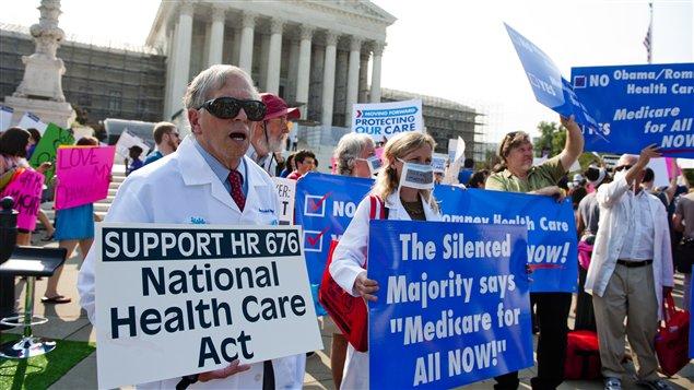 Partisans de la réforme de la santé à Washington
