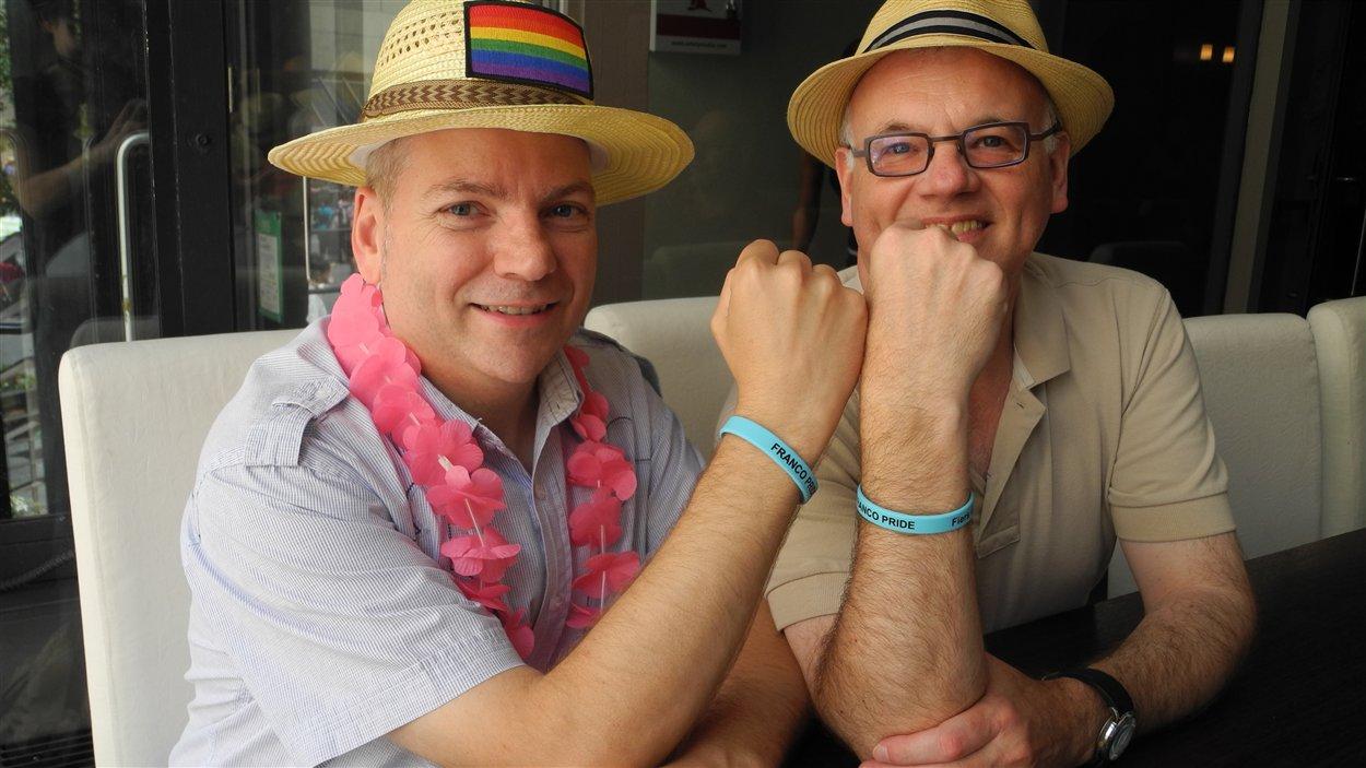 Gilles Marchildon (à gauche) et Ronald Dieleman