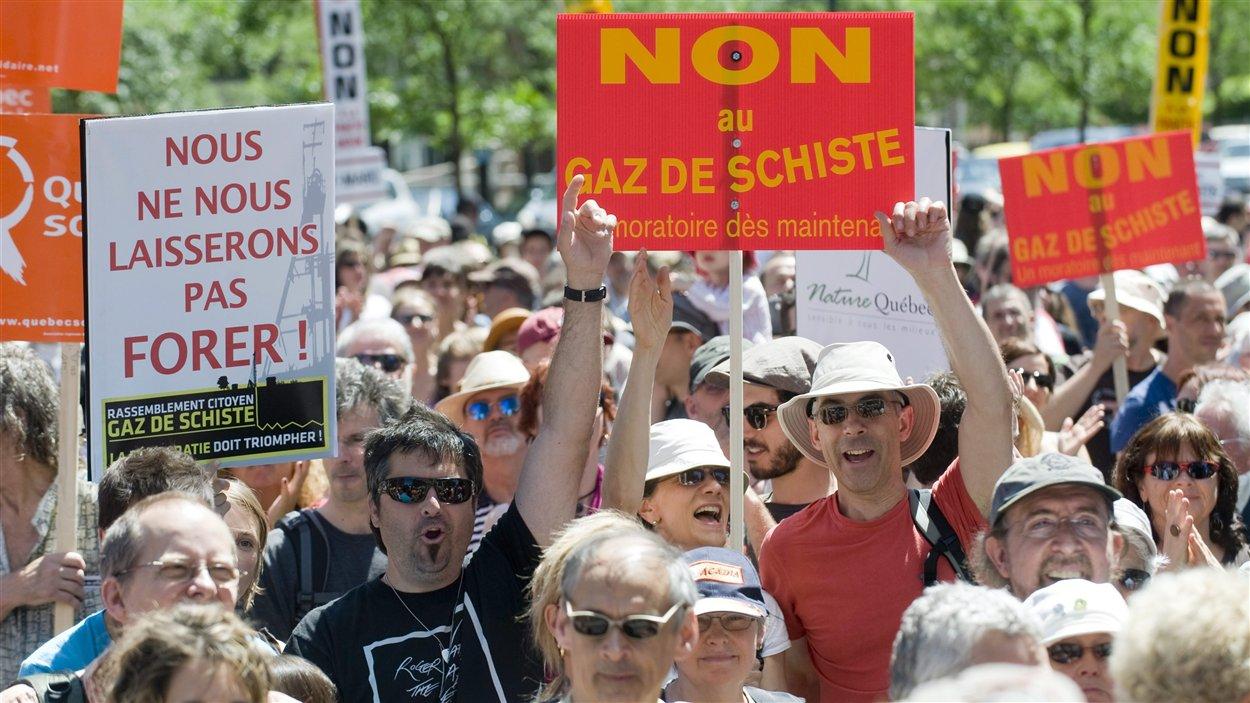 Manifestation contre les gaz de schiste, 18 juin 2011